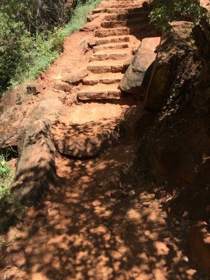 Zion natural stairs