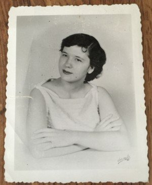 Mom as a young lady. Quite a pretty woman.