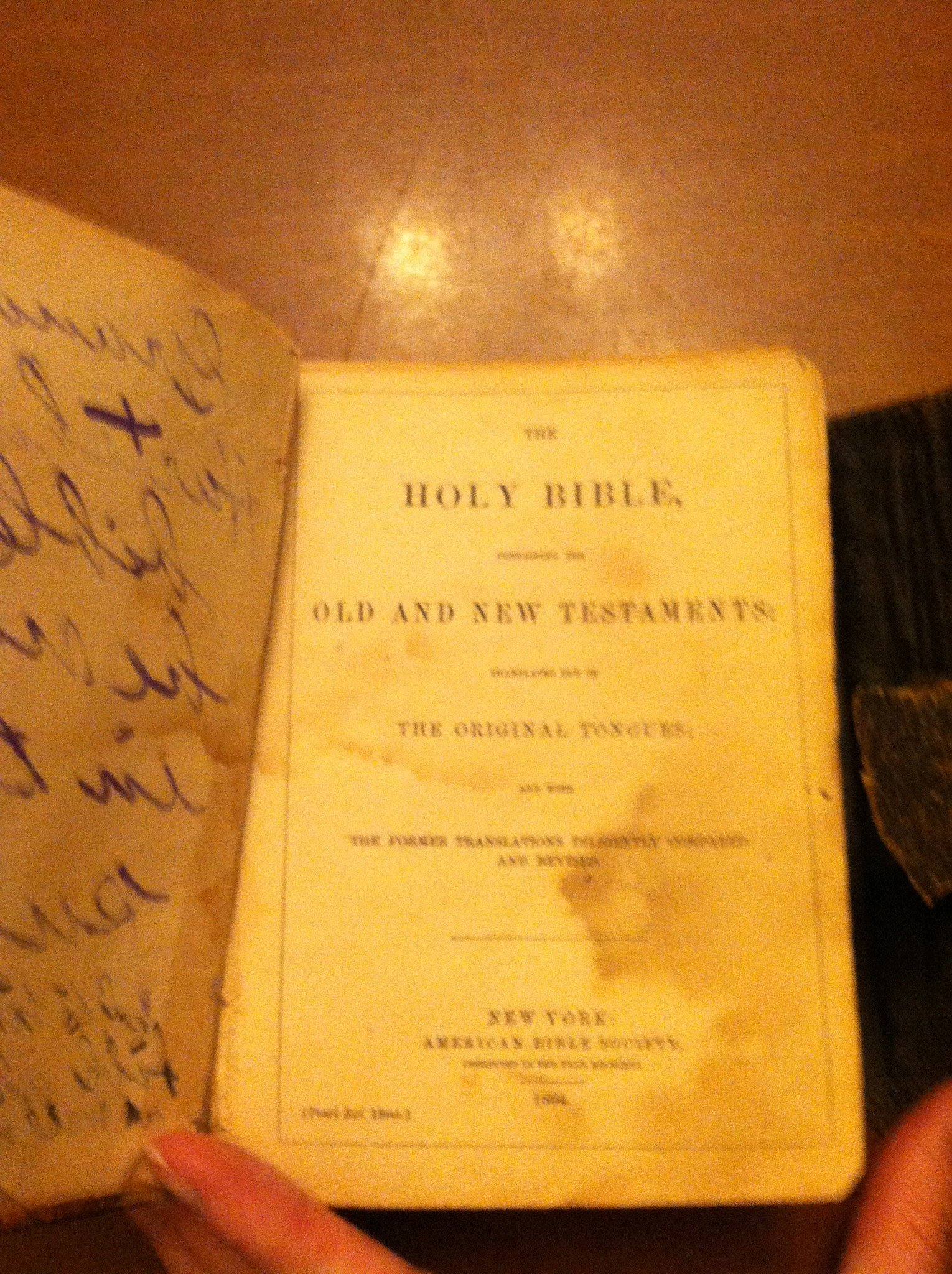 Antique Civil War Era Saddlepack Bible, circa 1864, NYC