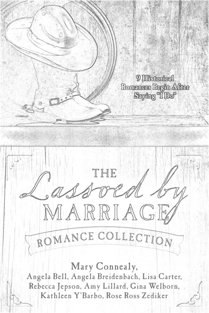 Lassoed by Marriage Book Cover and Coloring Page. Jot your review and share it on social media. Be sure to tag me!