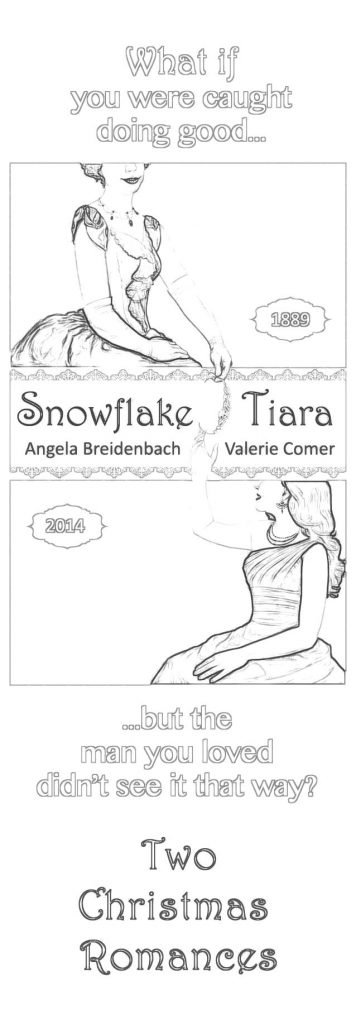 Snowflake Tiara Bookmark to color