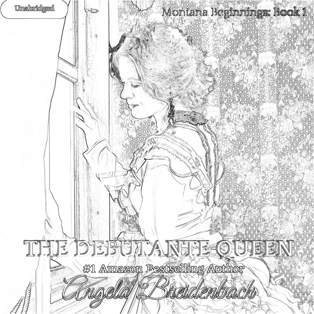The Debutante Queen AudioBook Cover and Coloring Page. Jot your review and share it on social media. Be sure to tag me!