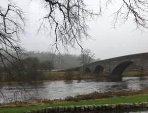 Ken Bridge over the River Ken in Galloway