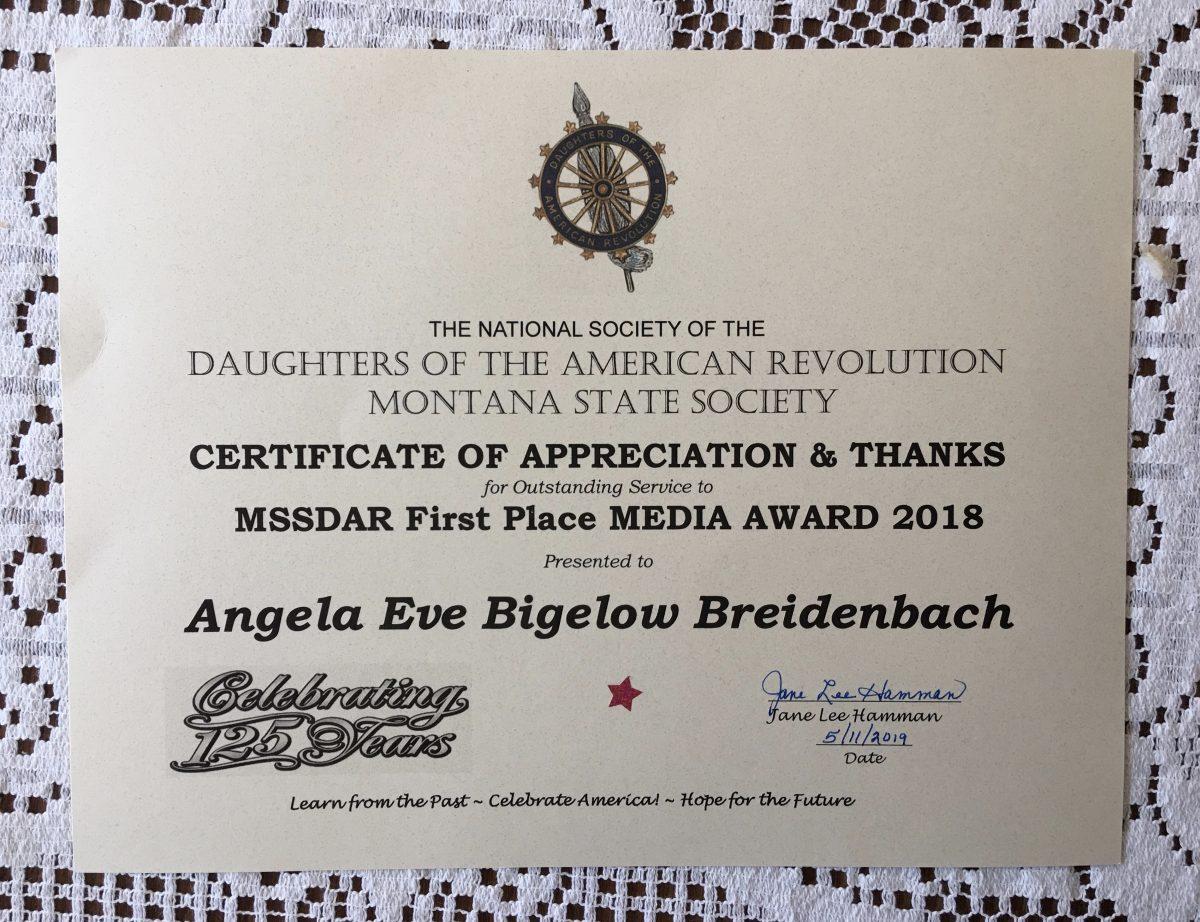 Angela Breidenbach Receives MSSDAR State Media Award