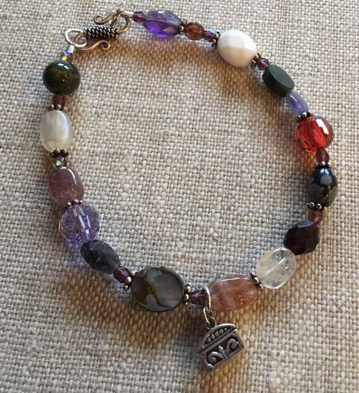 Gems of Wisdom 8″ Genuine Gemstone Bracelet