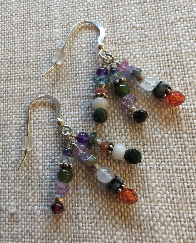 Gems of Wisdom 16-gemstone Earrings